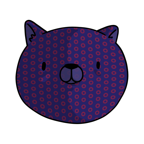A dog with the classic Donut pattern