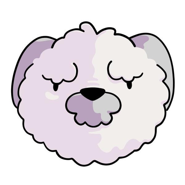 A furry white dog