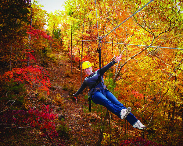 Spectacular Fall Color Views in Branson MOby Ziplining
