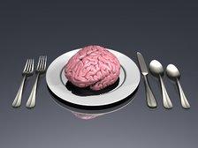 Brain on plate