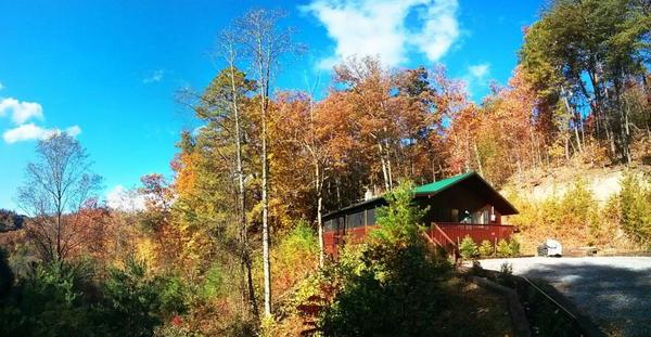 Fall foliage at The Wears Valley Chalet at SmokyMountainViews.com