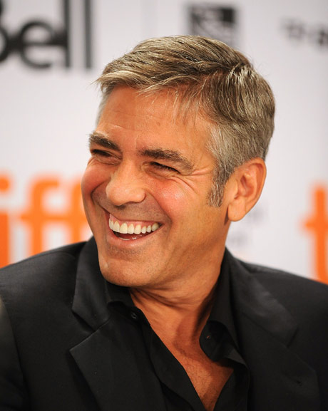 George Clooney smiles like a champion